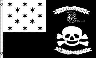 3'x5' War of 1812 American FLAG, tread gadsden tea party skull snake pirate jolly roger