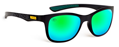 Eye Ojo Officially Licensed NFL Sunglasses, Green Bay Packers, 3D Logo on Temple - 100% UVA, UVB & UVC Protection