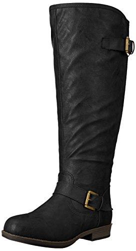 Brinley Co Women's Durango-xwc Riding Boot Black Extra Wide Calf