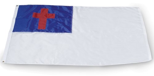 Allied Flag Outdoor 100-Percent Nylon Christian Flag, 4-Foot by 6-Foot