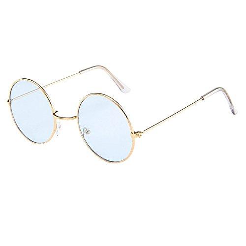 AMOFINY Fashion Glasses Women Men Vintage Retro Unisex Fashion Circle Frame Sunglasses Eyewear by AMOFINY-Fashion Sunglasses (Image #2)