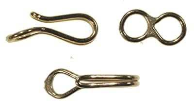 Double Wire Hook and Eye Clasp Gold Filled 20mm (Qty=1) by uGems