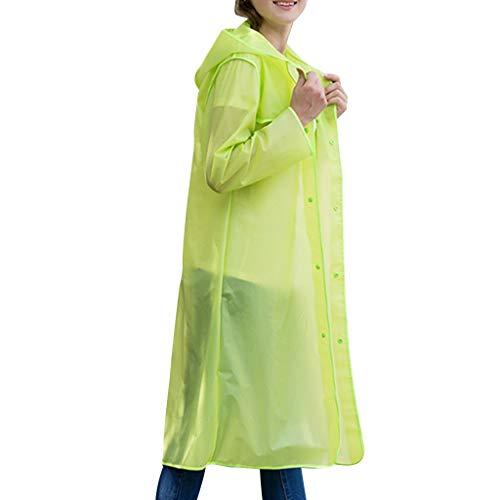 (Extra Thicker Men or Women Waterproof Emergency Rain Ponchos with Hood - Lightweight Universal Design Fashionable Plain Environmentally Friendly Backpack Raincoat)