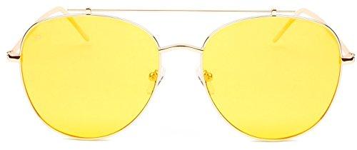 """PRIVÉ REVAUX ICON Collection """"The Einstein"""" Handcrafted Designer Polarized Aviator Sunglasses For Men & Women - Sunglasses Einstein"""