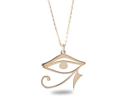 Handmade Eye Of Horus Necklace, Ra Eye Necklace, Spiritual Necklace, Horus Eye Necklace (Eye Of Ra And Eye Of Horus)