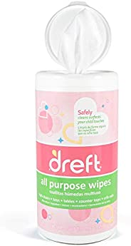 Dreft Multi-Surface All-Purpose Gentle Cleaning Wipes for Baby Toys, Car Seat, High Chair &