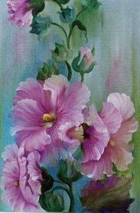 How-to Painting Packet Hollyhocks