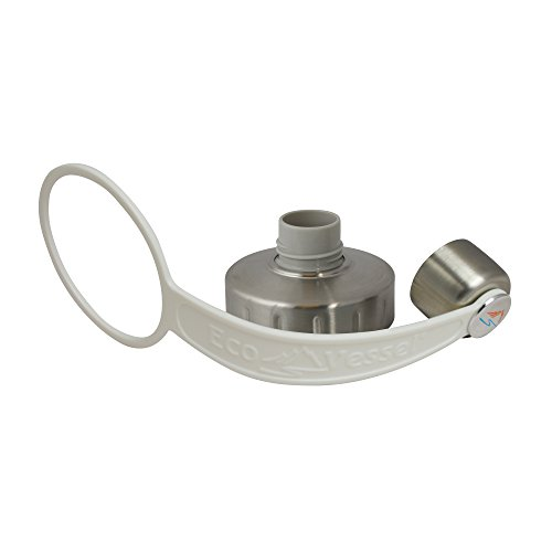 EcoVessel Replacement Cap, Silver/White Strap, 63mm