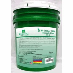 Renewable Lubricants Bio-Ultimax 1000 ISO 32 Hydraulic Lubricant, 5 Gallon Pail