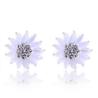 SuSy Fashion Korean Style Opal Sunflower Earrings, Wedding Earring