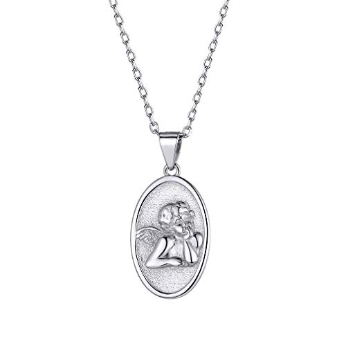 FaithHeart S925 Saint Raphael Angel Pendant Necklace Sterling Silver Religious Christian Fine Jewelry for Women/Men, Customize Available (Send Gift Box)