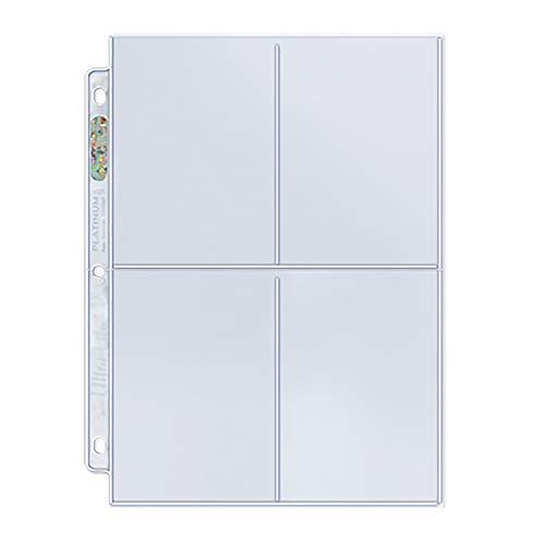 (Ultra Pro 4-Pocket Platinum Series Page (3.5