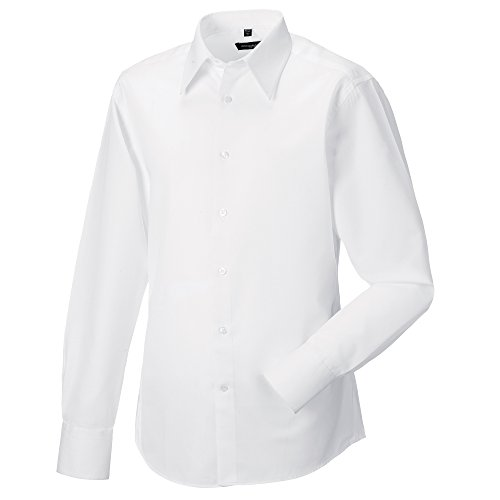 - Russell Collection Mens Long Sleeve Tencel Easy Care Fitted Shirt (L (Collar 16-16.5