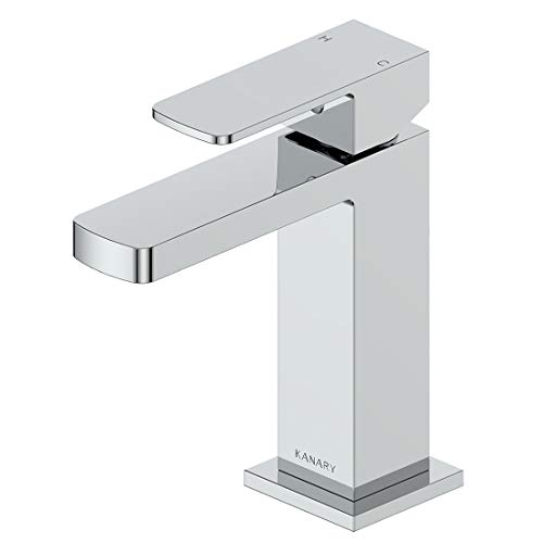 - KANARY Bathroom Sink Faucet Lead Free Solid Brass Body Modern Single Handle Basin Mixer Taps (Chrome)