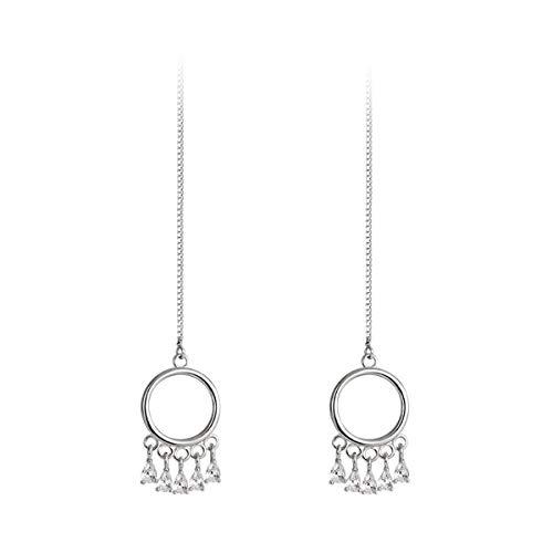 FarryDream 925 Sterling Silver Dream Catcher Threader Earrings