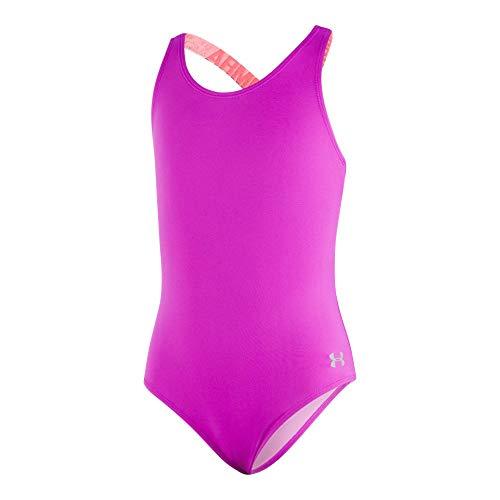 Under Armour Big Girls' One Piece Swimsuit, Strobe-S19, 16 (Badeanzug Badeanzug)