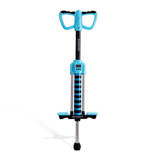 (Serenelife Super Safe Smart Counting Pogo Stick - First Beginner Bouncing Jumparoo with Music - Toy Jumping Sport for Little Children Boy & Girl Up to 150 Lbs)