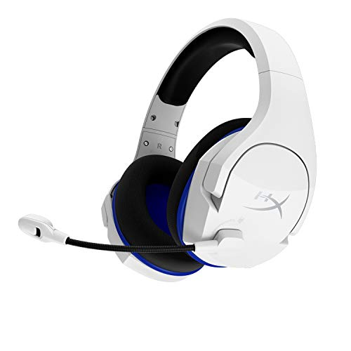 HyperX Cloud Stinger Core – Wireless Gaming Headset, for PS4, PC, Lightweight, Durable Steel Sliders, Noise-Cancelling Microphone, White