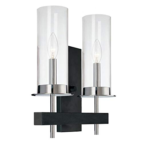Sonneman 4062-54 Two Light Sconce, Black
