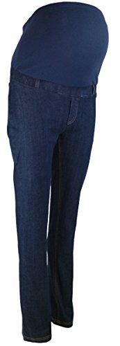 Elizabeth Brown Maternity Damen Straight Leg Jeanshose blau Indigo Blue Denim, Colour Match Cotton Under Bump Band 34, 36-38, 40-42, 44-46, 48-50, 52-54