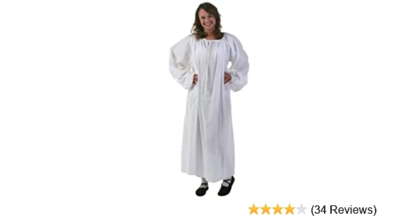 b04602e87778 Amazon.com  White Renaissance Chemise Costume - ST  Clothing