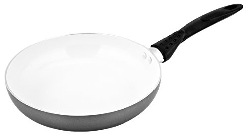 Bakelite Non Stick Fry Pan (CS-KOCHSYSTEME NEUSS 9.5 Inch Ceramic Nonstick Fry Pan, Grey and White )