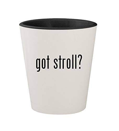 got stroll? - Ceramic White Outer & Black Inner 1.5oz Shot Glass