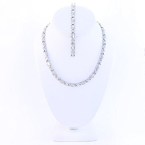Silver Stainless Stampato Necklace Bracelet product image