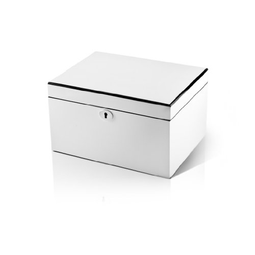 Ultra Sleek Pearl White Lacquer 18 Note Music Jewelry Box SUPER DEAL SAVE 72% - .0 Holy Night by MusicBoxAttic