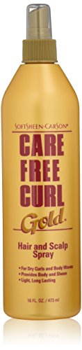 e Free Curl Gold Hair and Scalp Spray, 16 fl oz (Carefree Curl Activator)