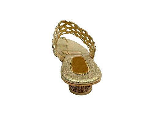 N Step Donna Oro Style Sandali Gold RACzqPA