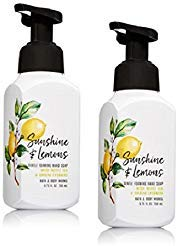 - Bath and Body Works Gentle Foaming Hand Soap, Sunshine and Lemons 8.75 Ounce (2-Pack) with White Tea and Ginseng Extracts