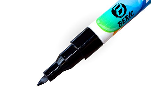 Beric Premium Paint Markers 12 pack, Water-based, Marker, Extra Fine Point Tip, Writes on Almost Anything, Water and Sun Resistant Vibrant Colors Low Odor Long Lasting Fast Drying Assorted Colors