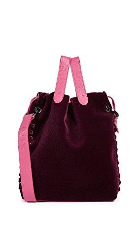 meli melo Women's Hazel Drawstring Bag, Bordeaux, One Size