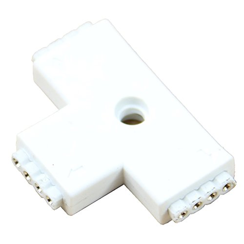 Shaped Track Connector - SODIAL(R) 1pc White RGB T Shaped 4 Pins 3 Way Female Connector Adapter For 3528 5050 LED Strip Light