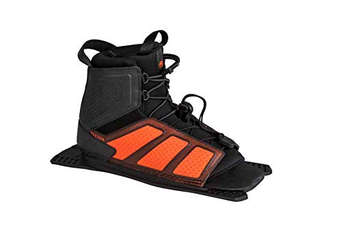 Radar Water Ski Vector Boot - Steel/Orange - Rear Feather Frame - XL (2019) by Radar