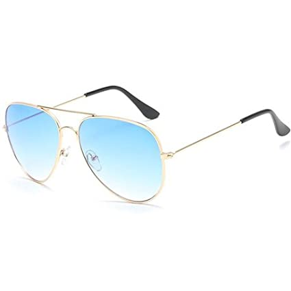 GGSSYY Bella Donna Uomo Specchio Pilot Occhiali Da Sole Per Donne Occhiali Da Vista Frames Retro Femminile Occhiali da sole Eyewear, Trasparente
