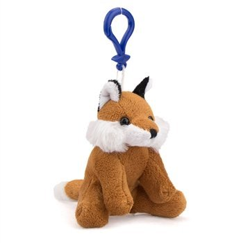 Animal Miniature Plush (Fox Plush Red Fox Stuffed Animal Backpack Clip Toy Keychain WildLife)