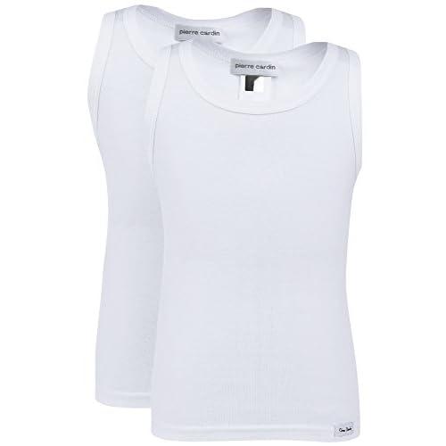 54746affd5ef Nuevo Pierre Cardin Camisetas Sin Mangas Pack de 2 para Niños PCK011 ...