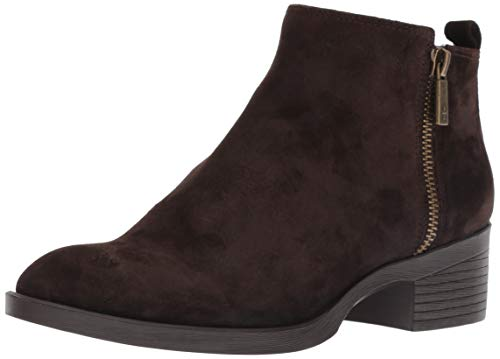 Kenneth Cole New York Women's Levon Dual Side Zip Ankle Bootie Boot, Chocolate Suede 9 M US