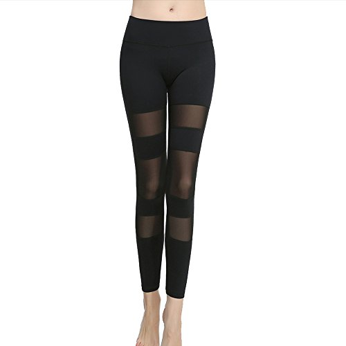 Cideros High Flex Workout Legging Soft Yoga Sports Dance Pants Fitness Power Flex Yoga Pants Leggings - Black