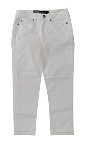 Calvin Klein Womens Power Stretch Skinny Cropped Pants (12, White)