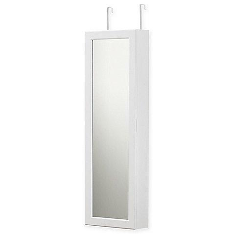 Door Solutions Over-the-Door Mirrored Mega Cabinet in White by Door Solutions