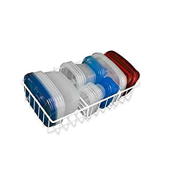 Large Adjustable Food Storage Organizer in White (Standard version)