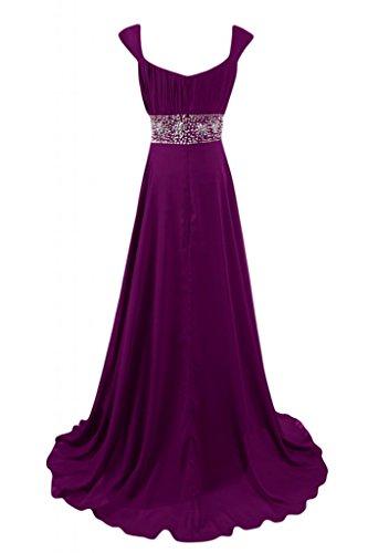Maxi Grape damigella d'onore Gowns quadrato sera da abito Sunvary per Pageant Scollo Graceful Dresses wqxOCP