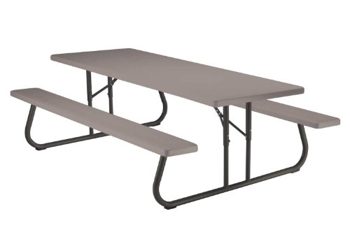 Lifetime 80123 Folding Picnic Table and Benches, 8 Feet by Lifetime