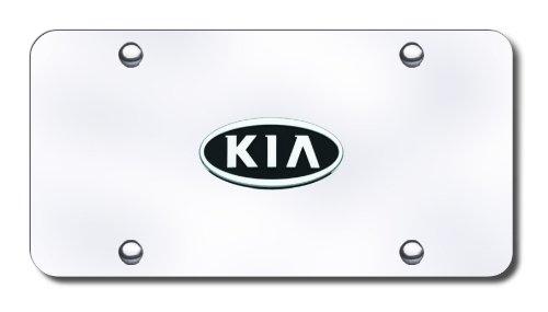 Kia Logo Chrome License Plate