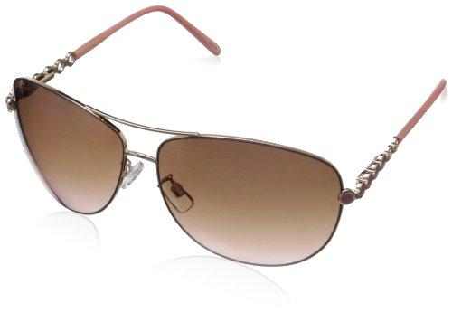 def4c93fdfa Amazon.com  Steve Madden Women s S5139 Aviator Sunglasses
