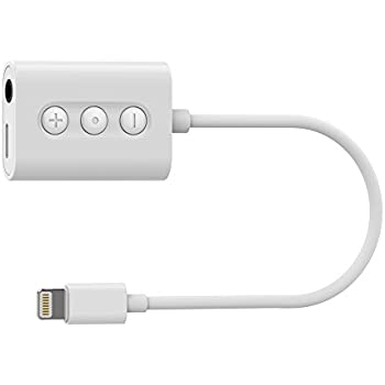 2 in 1 iphone X/8/7 adapter, Reflying RCA105 Lightning to 3.5mm Headphone Jack Audio Adapter with Remote Lightning Charging Port for for iPhone X, iPhone 8, iPhone 8 Plus, iPhone 7 and iPhone 7 Plus