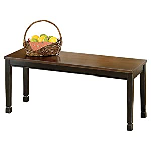 Ashley Furniture Signature Design – Whitesburg Large Dining Bench – Rectangular – Vintage Casual